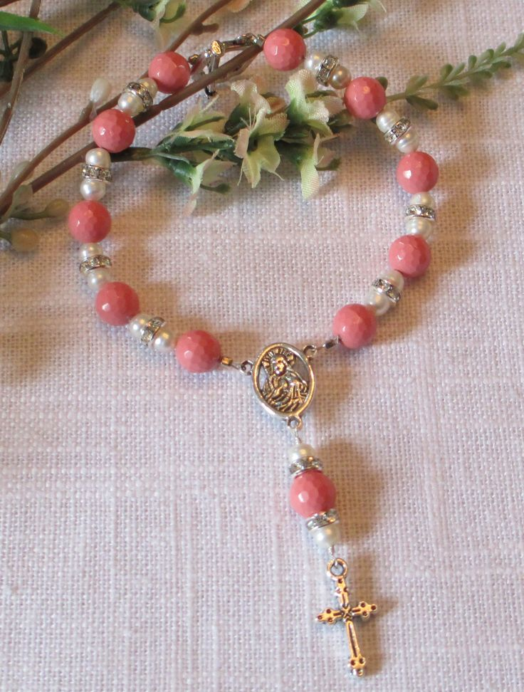Jade and Pearl Rosary Bracelet