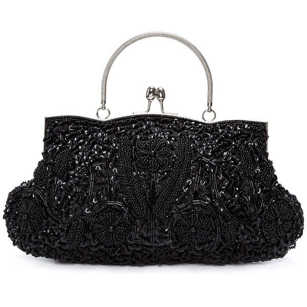 Chichitop Beaded Sequin Design Flower Evening Purse Large Clutch Bag ($21) ❤ liked on Polyvore featuring bags, handbags, clutches, flower handbags, handbag purse, sequin purse, evening purses and evening handbags clutches