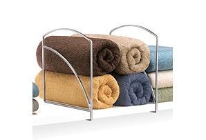"One Kings Lane - Housekeeping - 4-Pack Chrome Shelf Dividers, 9.4"" Tall"