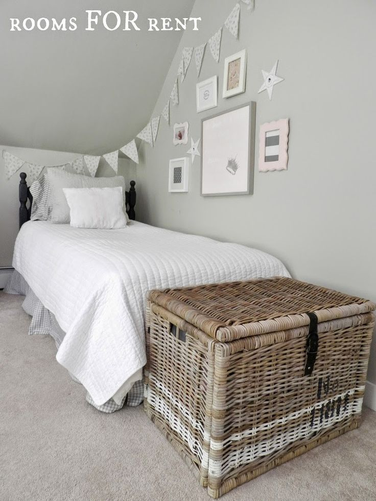 Painted Stripes on Ikea Wicker Trunks. Use our anniversary date. Use for blankets.