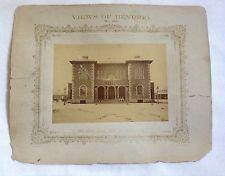 RARE 1875 N.J. CAIRE PHOTOGRAPH - VIEWS OF BENDIGO NO. 20 - SANDHURST TOWN HALL