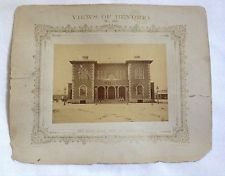 RARE 1875 N.J. CAIRE PHOTOGRAPH - VIEWS OF BENDIGO NO. 20 - SANDHURST TOWN HALL