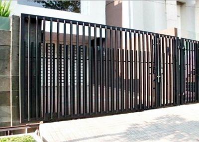 Kumpulan Contoh Gambar Pagar Untuk Rumah Minimalis Besi Hollow Tempa Stainless Steel Brc Terbaru Fence Design Steel Fence Brick Fence