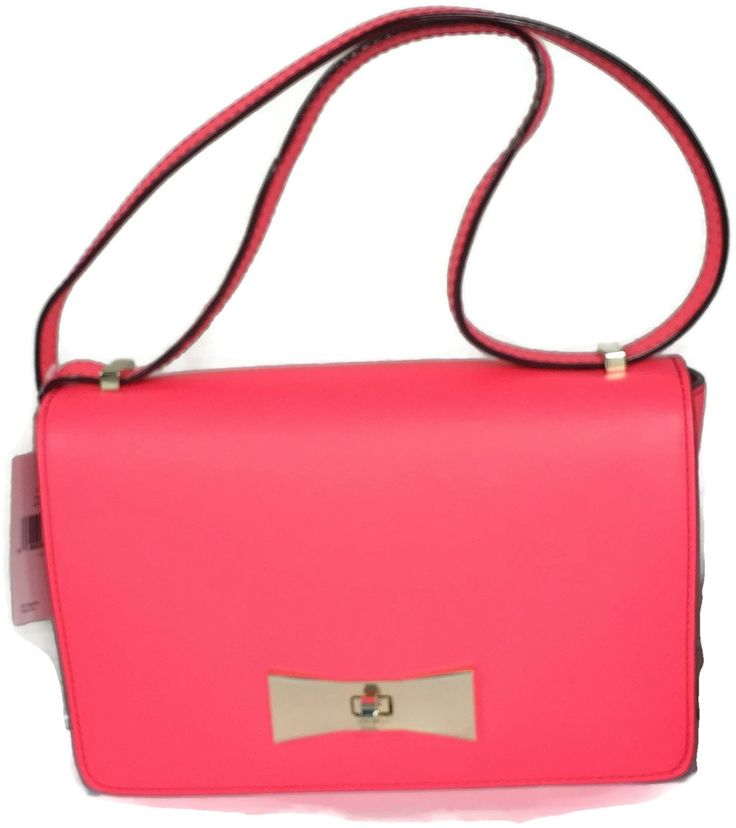 Kate Spade 2 Park Avenue Cheri, Pxru 4763, Geranium. Color is Soft Coral. Same as the 2 park avenue beau geranium color. RARE. 7.5''h x 10''w x 3''d, drop length: 9-16'' adjustable strap. thick, soft, smooth cowhide with matching trim, 14-karat light gold plated hardware. over the shoulder bag; flap with turnlock closure, adjustable shoulder strap. interior zip compartment with 3 slide pockets.