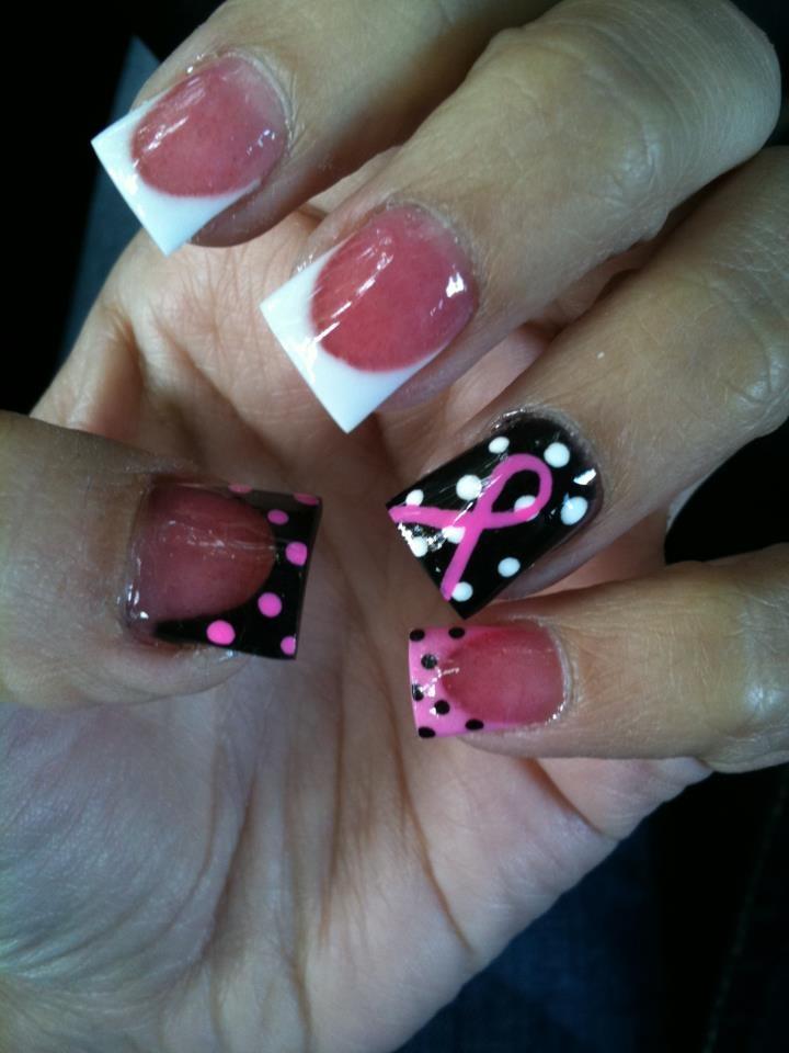 T Cancer Awareness Acrylic Nails Polished Pinterest And Acrylics