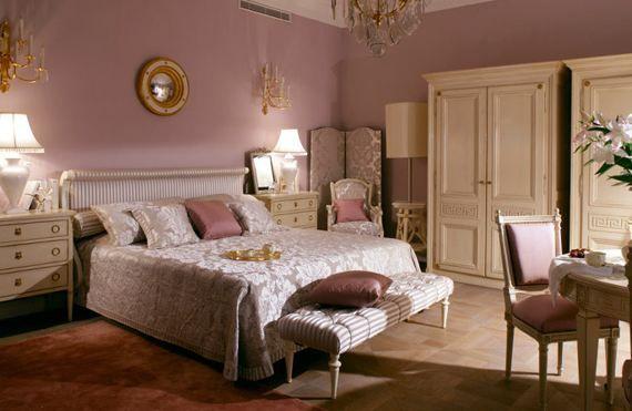 Греческий дизайн спальни