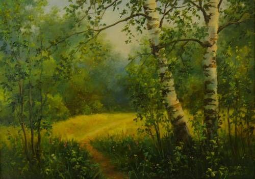 Картины (живопись) : Солнечная лужайка