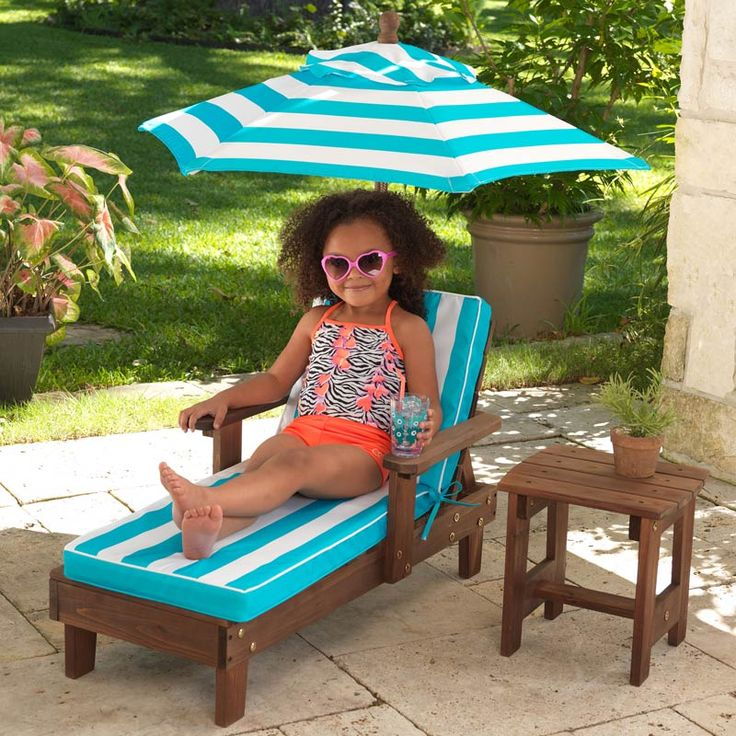 Costco UK   KidKraft Chaise Lounger Set With Umbrella U0026 Side Table (3+  Years) £54.99 | WM Furniture | Pinterest | Side Tables, Umbrellas And Costco