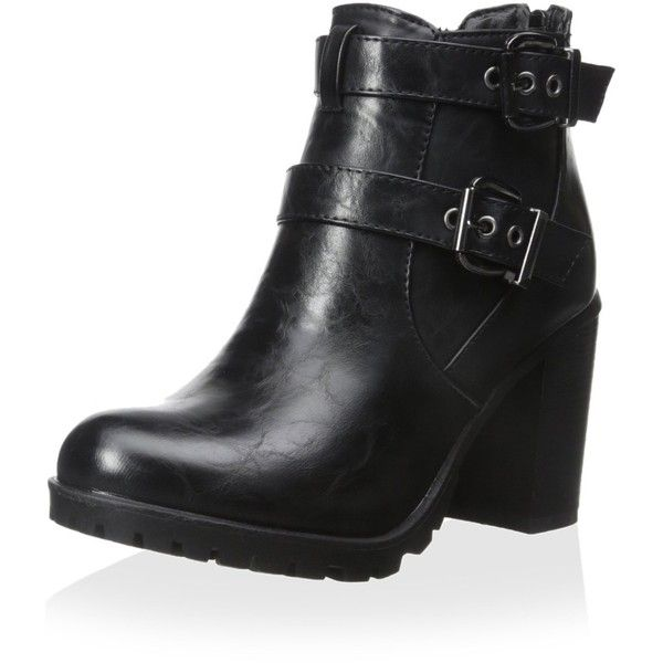 Modern Rush Women's Ankle Bootie ($76) ❤ liked on Polyvore featuring shoes, boots, ankle booties, short boots, ankle bootie boots, lug sole booties, lug-sole boots and ankle boots