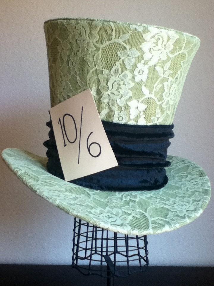 Disney's Mad Hatter Top Hat / Classic/ Cartoon/ Halloween/ Wedding/ Party. $100.00, via Etsy.