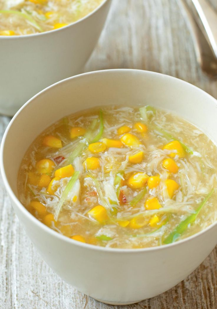 Crab and Sweetcorn Soup - The Happy Foodie