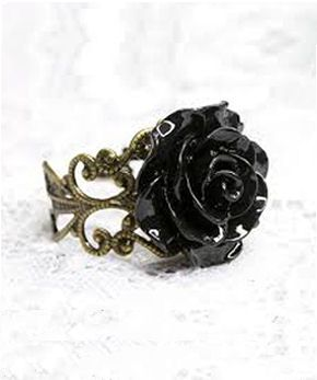 Punk clothing | gothic clothing | scene clothing | emo clothing | grunge clothes | rocker clothes - black rose ring
