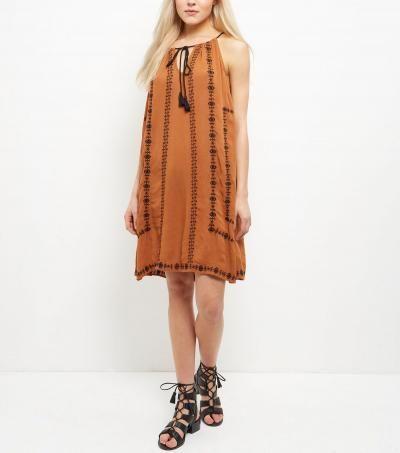Orange Embroidered Dress xx