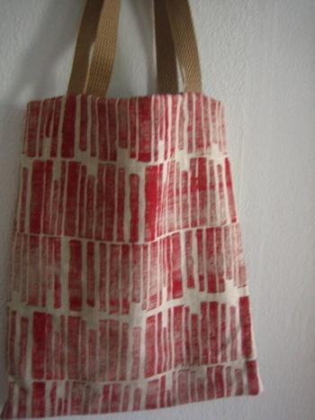 a nice block printed bag