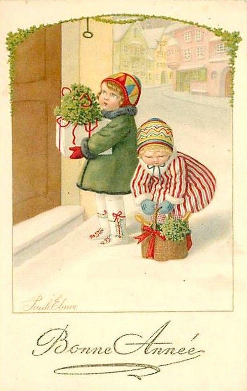 Pauli Ebner (1873-1949) — Old New Year Post Card (506x800)