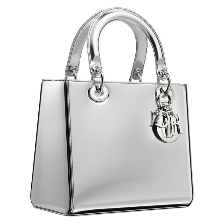 Dior Argent mirror leather Lady Dior bag