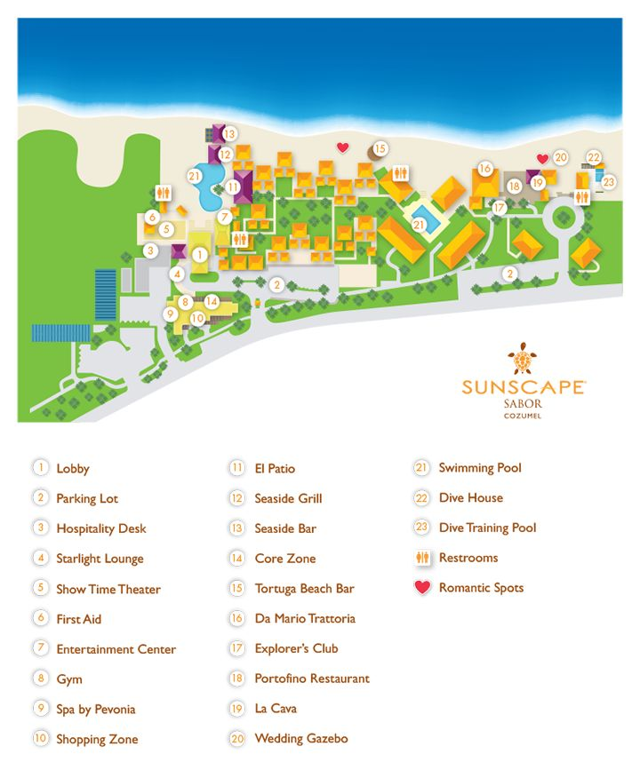 sunscape sabor cozumel resort map unlimited vacation club