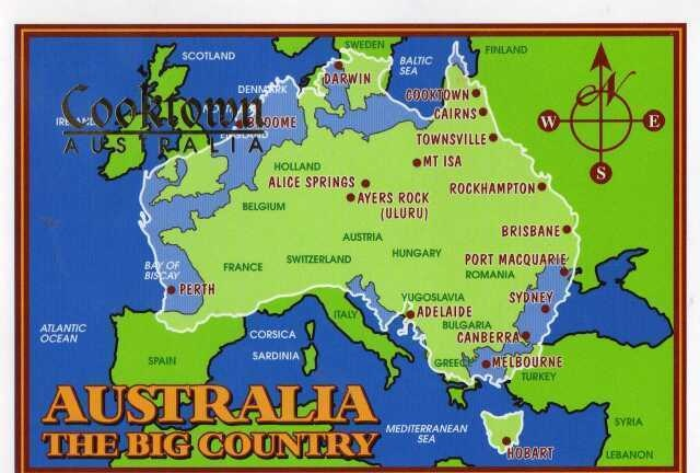 We are the big country, well Island Continent really