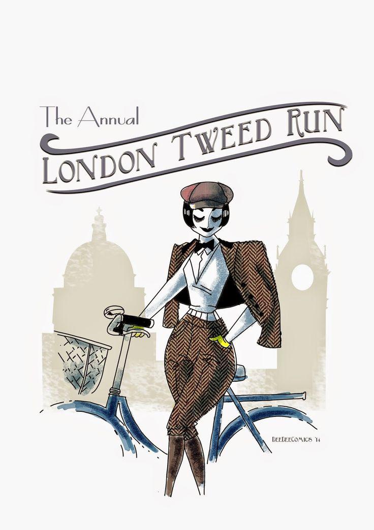The London Tweet run. Art by dee dee comics
