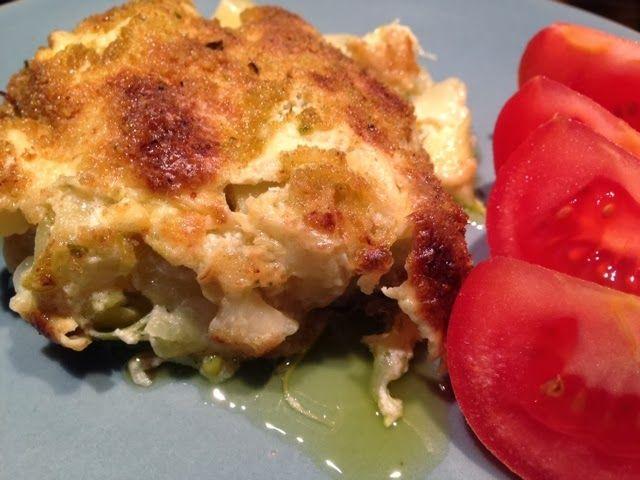 """Patrícia is cooking.: Sem """"bacalhau"""" com natas ou alho francês com natas {vegan}"""