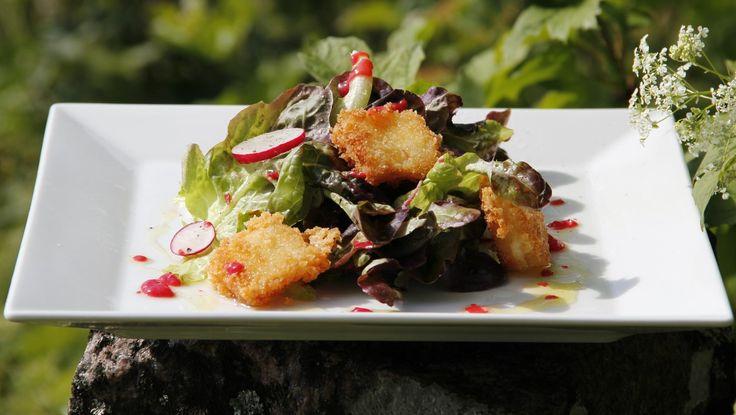 Salat med bærvinaigrette - Foto: TV4 /