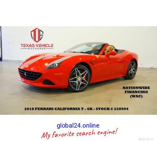 2018 Ferrari California T Convertible Msrp 233k Nav Htd Cool Lth 20 S 6k