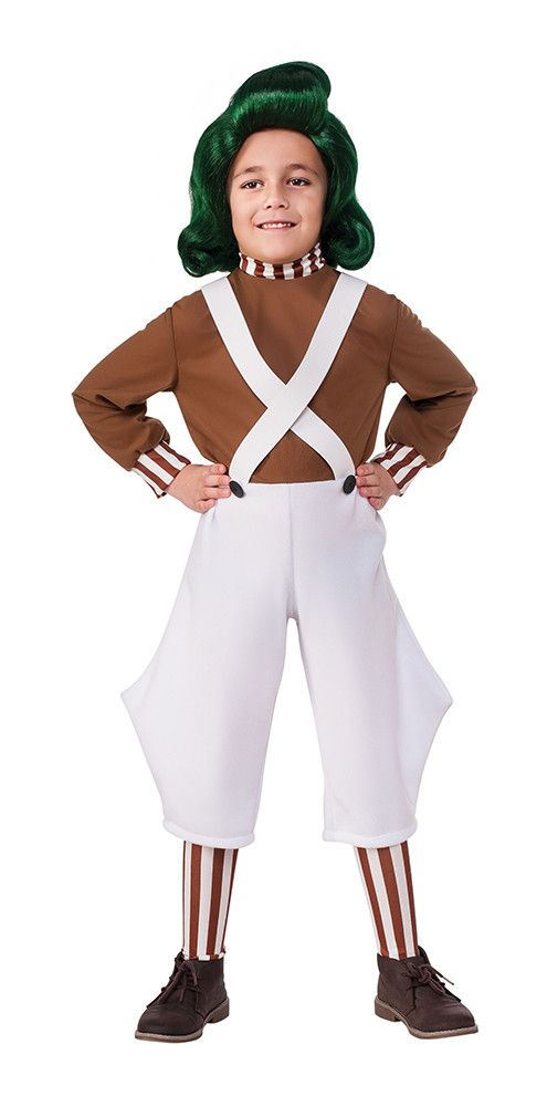 Join Willy Wonka in a world of pure imagination with this Oompa Loompa costume!