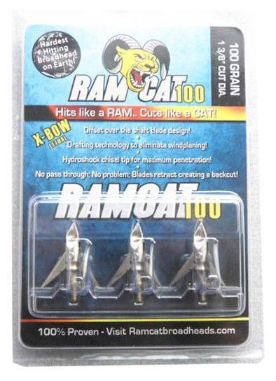 Ramcat Broadheads 100gr 3-blades Hunting tips 3pcs/pack ** ships from China ** | Sporting Goods, Outdoor Sports, Archery | eBay!