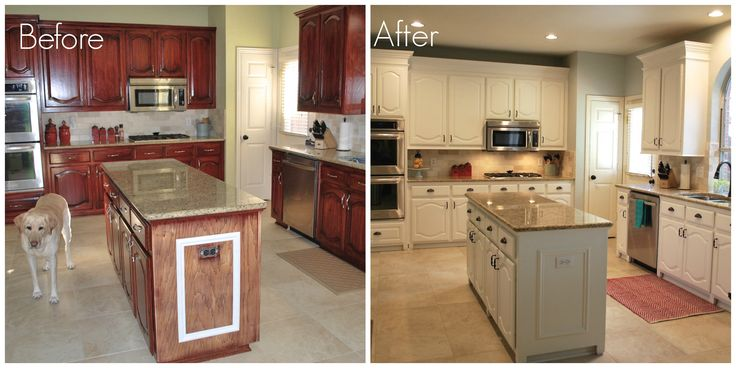 Best Painting Kitchen Cabinets Before And After Photo From 400 x 300