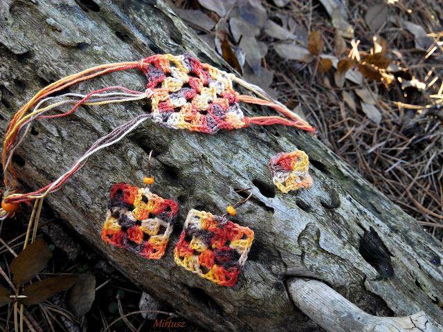 Horgolt ékszerszett  Mirtusz : Őszi-erdő ékszerek