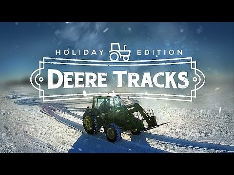 DeereTracks   Christmas Edition - FARMER CREATES AMAZING SNOW ART WITH TRACTOR & DRONE - YouTube