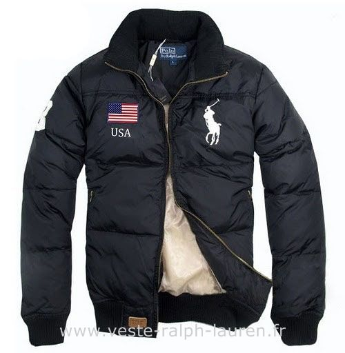 f555f2fba7e Polo officiel - doudoune Ralph Lauren drapeau usa big pony usa new noir  Doudoune Femme Ralph Lauren