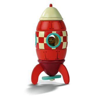 Janod Magnetic Rocket is Sold online at DirectToys NZ