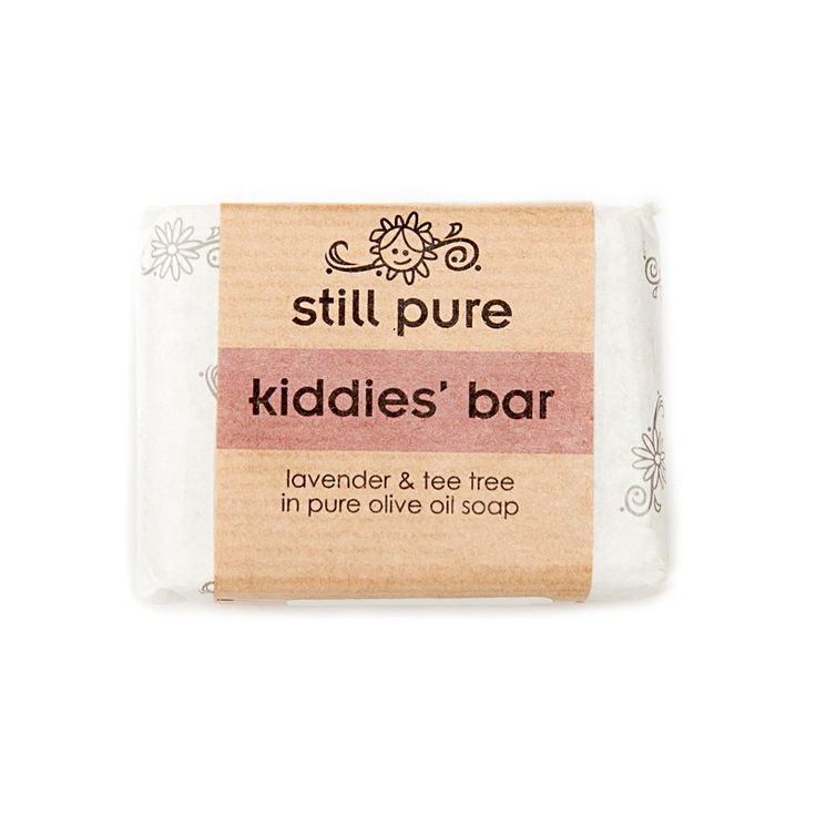 Still Pure Kiddies' Soap Bar is a wonderful, non toxic soap perfect for children. Contains lavender and tea tree essential oils in a pure olive oil soap. Keep germs away with the anti-fungal, anti-bacterial and anti-viral properties of this gentle soap. Handcrafted.