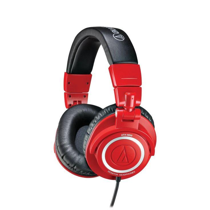 New! Audio-Technica ATHM50RD Professional Studio Monitor Headphones, Red #AudioTechnica