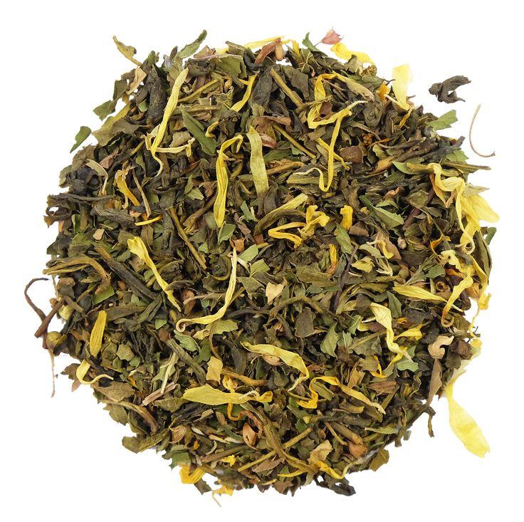 Het thee effect | PRESENCE OF MIND | Een biologische groene thee met tulsi en pepermunt. #tea #thee #infusie #lossethee #hettheeeffect