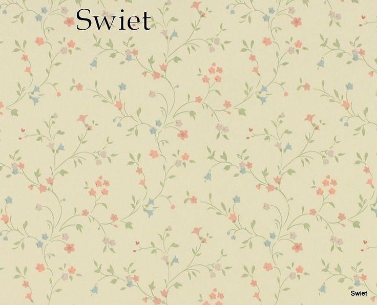Schattig bloemetjes behang   Swiet