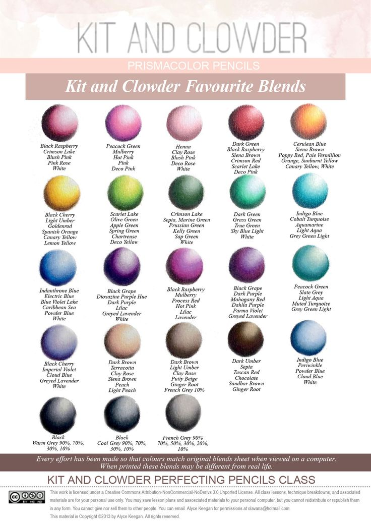 Pencil Colours - Kit and Clowder