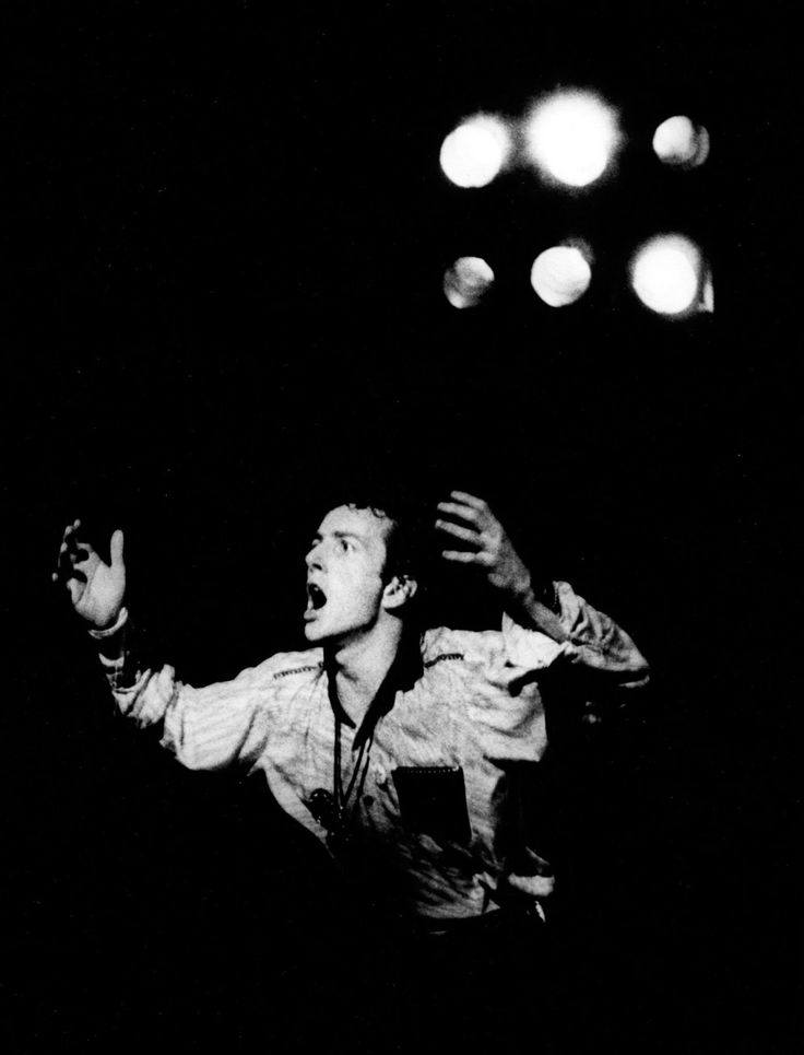 """vaticanrust: """"Joe Strummer on stage with The Clash at The Palladium in New York City, 1979. Photo by Godlis. """""""