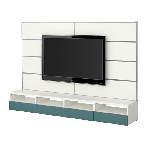 best framst tv storage combination ikea the panel is hollow hide cords inside you can. Black Bedroom Furniture Sets. Home Design Ideas