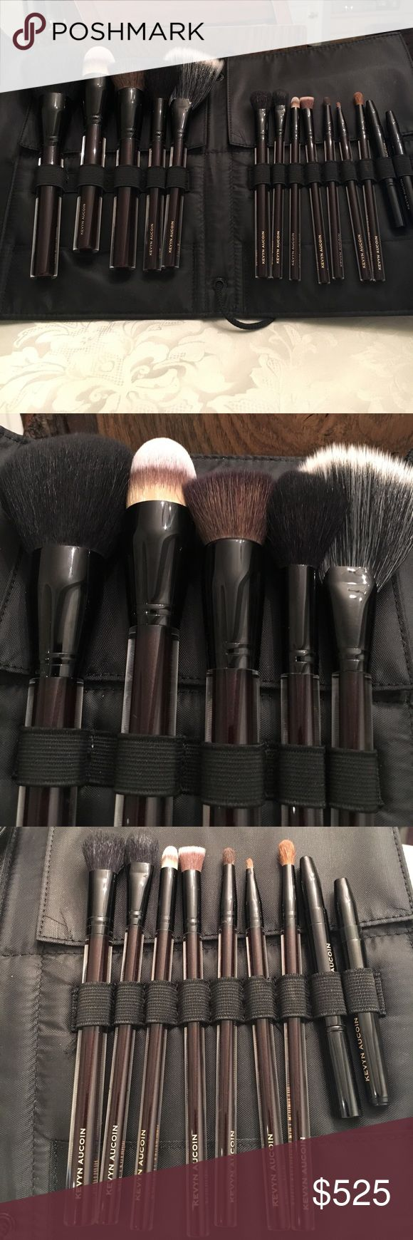 The Essential Brush Collection This professional makeup brush set comes in a faux leather case. This is a treasure for anyone who truly appreciates makeup artistry. Has never been used. In perfect condition. No box. kevyn Aucoin Makeup Brushes & Tools
