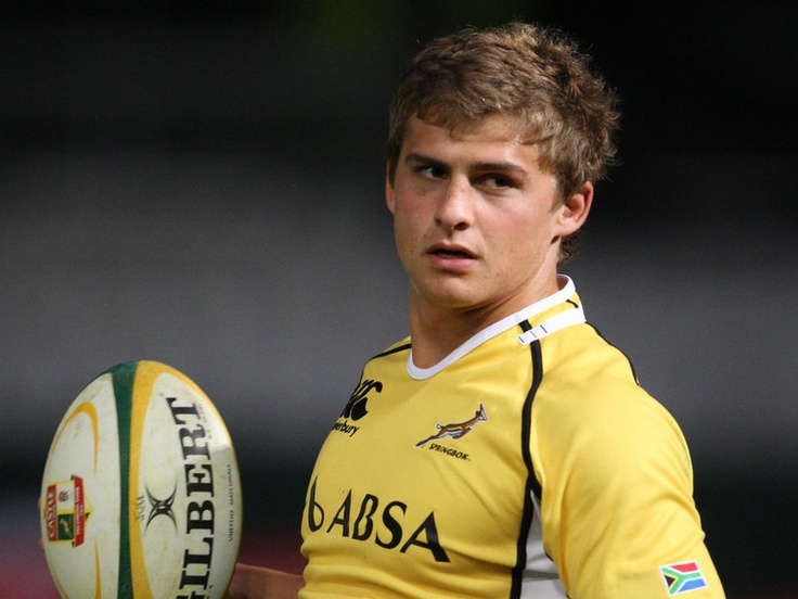 Pat Lambie in yellow training jersey