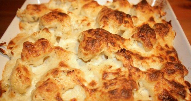 #RECETAS_en_ESPAÑOL / Coliflor gratinada con queso - Sabrosía RECETA http://www.sabrosia.com/2013/12/coliflor-gratinada-con-queso/