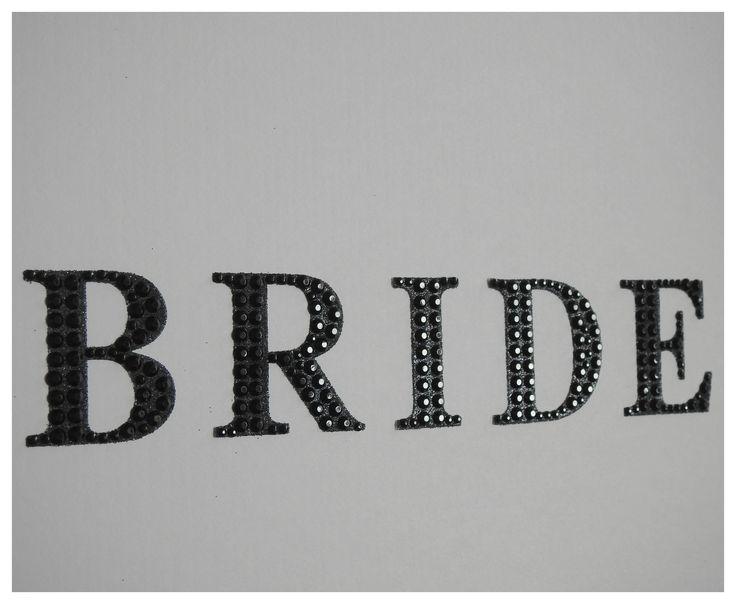 Black Diamante Bride wedding Dress Travel box from www.bonbod.com