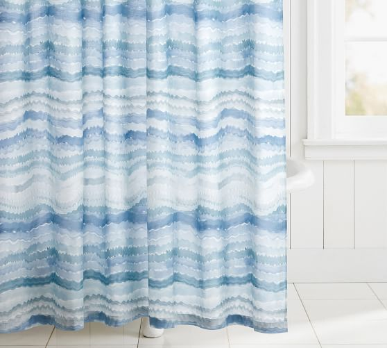 Rebecca Atwood Organic Surf Printed Shower Curtain In 2020 Furniture Slipcovers Curtains Shower