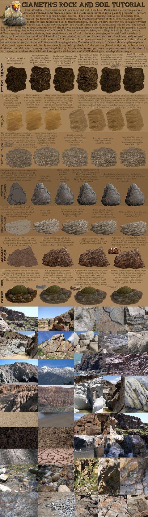 Ciameth's Rock Tutorial by Ciameth on deviantART via PinCG.com