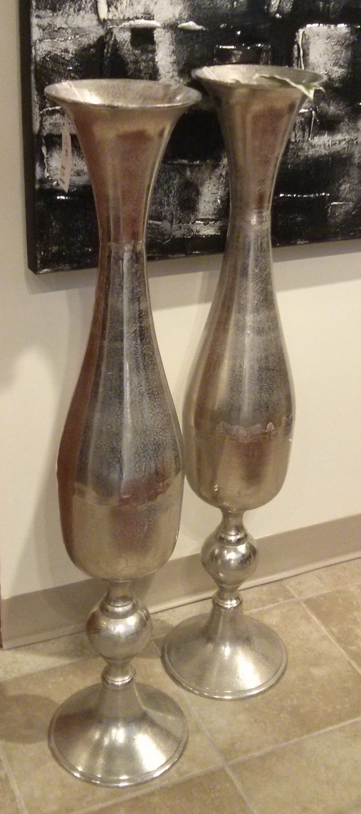Accessories Large Silver Vase Visit Our Showroom We Have