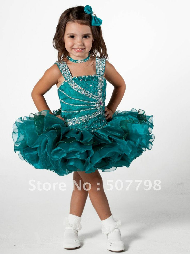 Beautiful Toddler Girl Pageant Dresses | ... flower girl dress, little pageant dress,kid's cupcake gown,organza