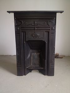 Cast iron Victorian fireplace (upstairs bedroom)
