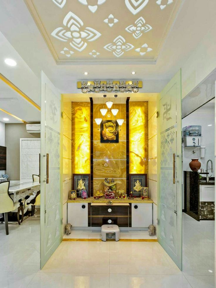 The 109 best images about puja room on pinterest home hindus and temples for Design of mandir in living room